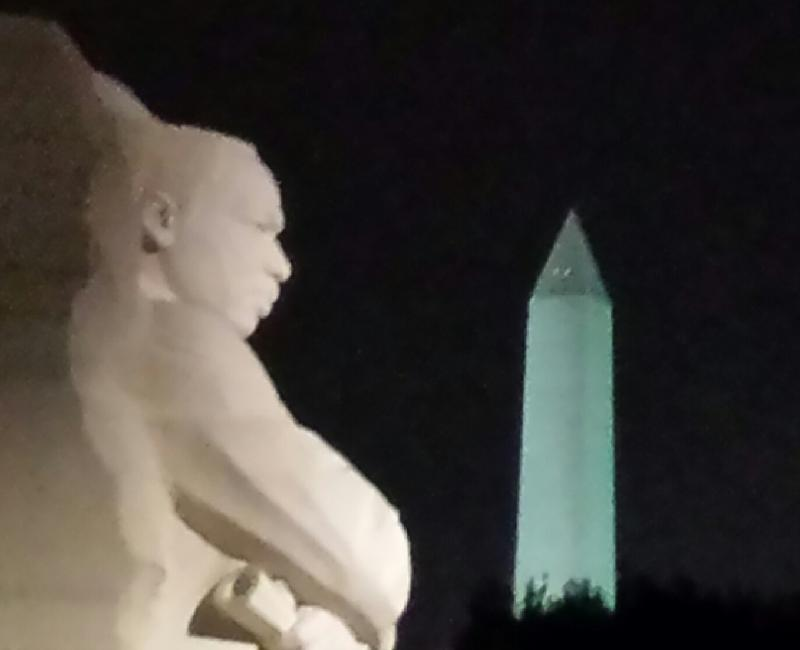 Martin Luther King, Jr. Memorial and Washington Monument